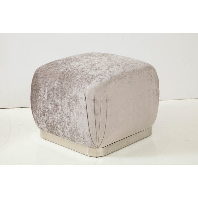 Souffle Ottomans or Poufs by Karl Springer - a Pair For Sale In New York - Image 6 of 10