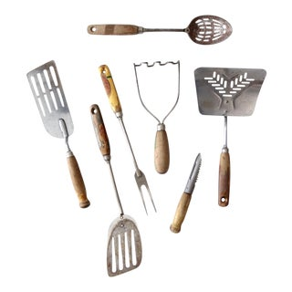 Vintage Kitchen Utensil Collection - Set of 7 For Sale