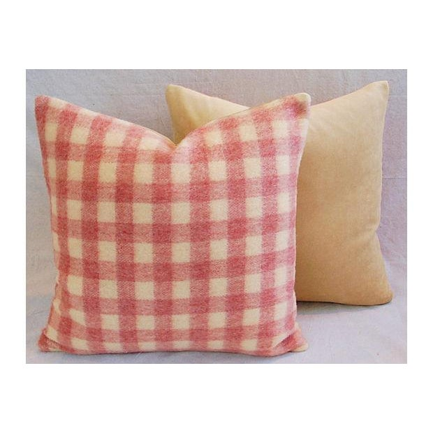 Custom Scottish Plaid Virgin Wool Pillows - A Pair - Image 5 of 8
