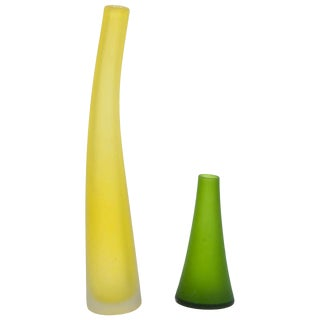 Frosted Glass Vases by Carlos Moretti For Sale