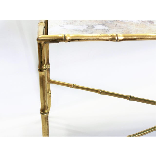 Maison Bagues French Brass Bamboo Coffee Table - Image 10 of 11