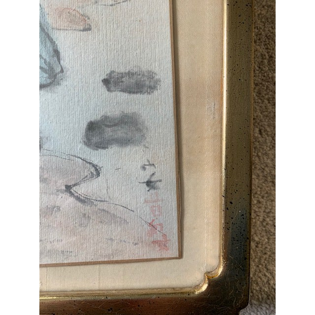 Blue Early 20th Century Antique Landscape Watercolor Paintings - Set of 4 For Sale - Image 8 of 10