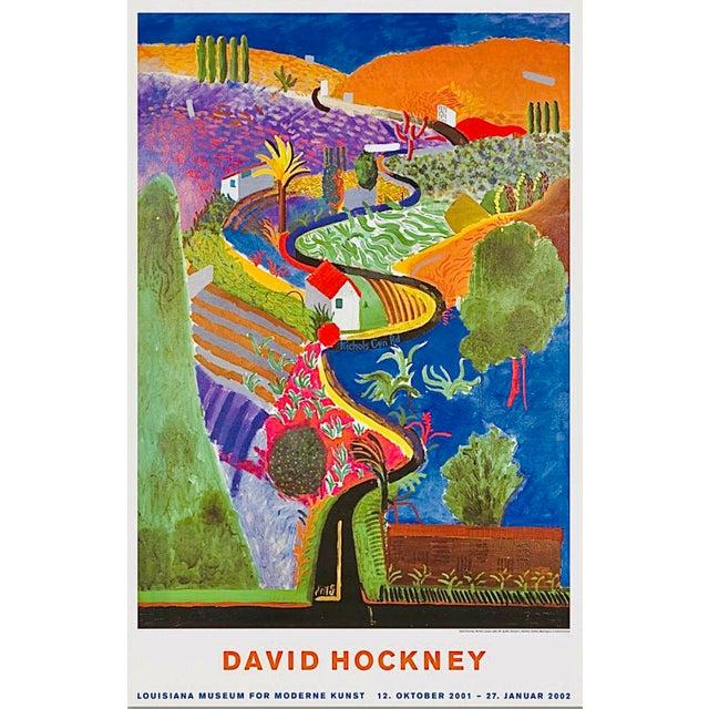 2001 Original David Hockney Nichols Canyon Exhibition Poster Denmark For Sale