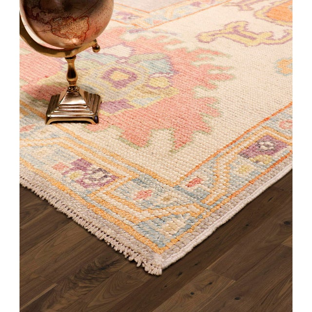 2010s Pasargad Turkish Oushak Collection Wool Area Rug - 9′9″ × 13′6″ For Sale - Image 5 of 6