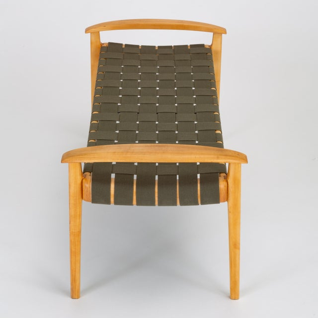 American-Made Maple Bench With Woven Seat by Tom Ghilarducci For Sale - Image 9 of 13