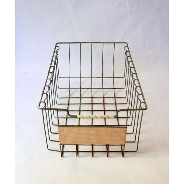 Vintage Mid Century Wire Basket For Sale - Image 4 of 13