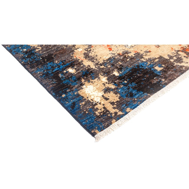 """Eclectic Hand Knotted Area Rug - 6' 4"""" X 8' 10"""" - Image 2 of 4"""