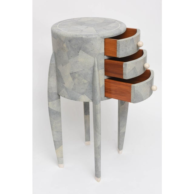 1980s Diminutive Patchwork Shagreen Chest of Drawers by Maitland-Smith For Sale - Image 5 of 11