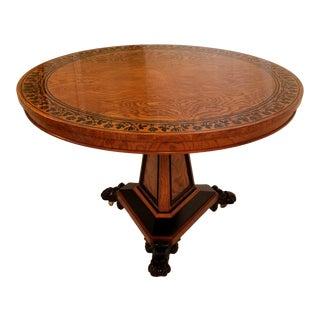20th Century Regency Baker's Stately Homes Center Table For Sale