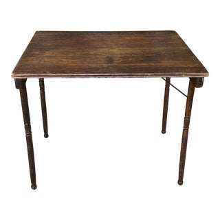 19th Century Rustic Belding Hall Mfg. Co. Oak Folding Table For Sale
