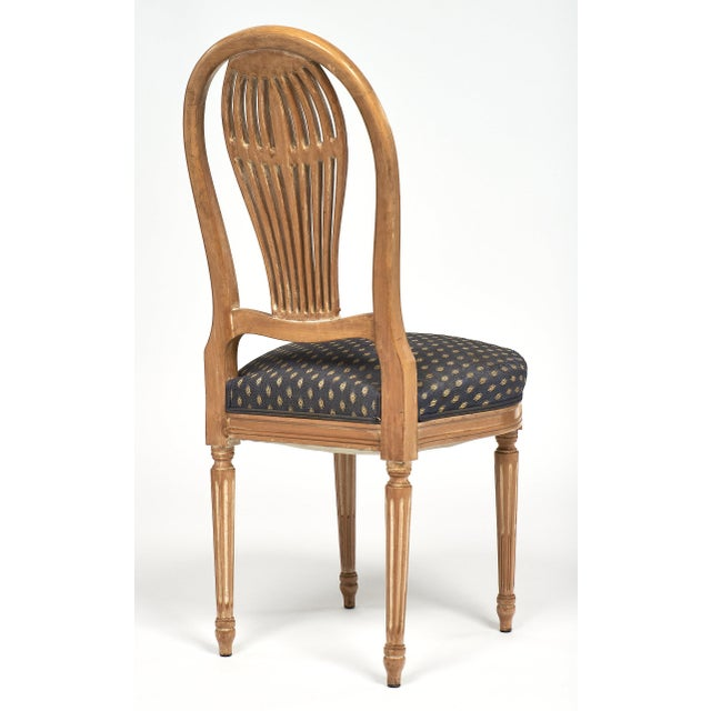 Wood Louis XVI Style Céruse Dining Chairs For Sale - Image 7 of 10