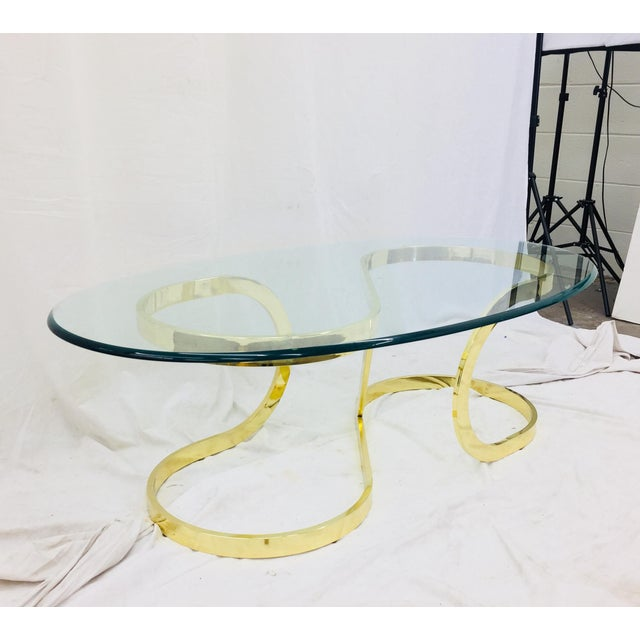"""Vtg Modern Milo Baughman """"Ribbon Candy"""" Coffee Table For Sale In Raleigh - Image 6 of 13"""