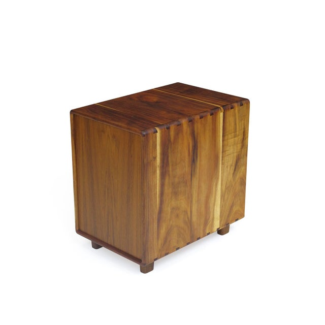 Brown Jim Sweeney Koa Filing Cabinets - a Pair For Sale - Image 8 of 11