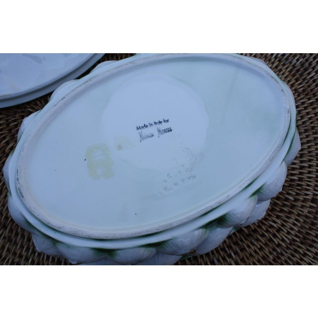 Green Neiman Marcus Italian Garlic Bulb Tureen / Covered Casserole Dish For Sale - Image 8 of 11