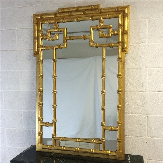 Gold Bamboo-Style Mirror - Image 2 of 8