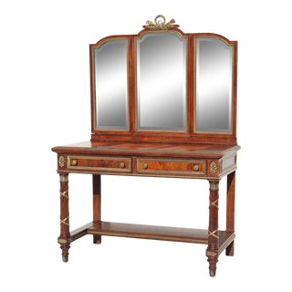 French Large 19th C. Louis XVI Style Vanity For Sale