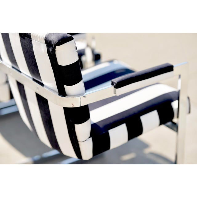 Postmodern Milo Baughman for Thayer Coggin X Base Chrome Dining Set - 7 Pieces For Sale - Image 3 of 13