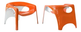 Image of Orange Lounge Chairs