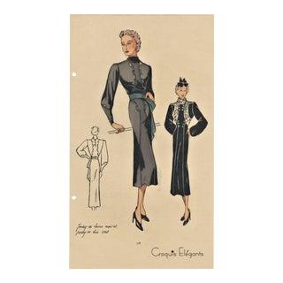 Art Deco Fashion Print For Sale