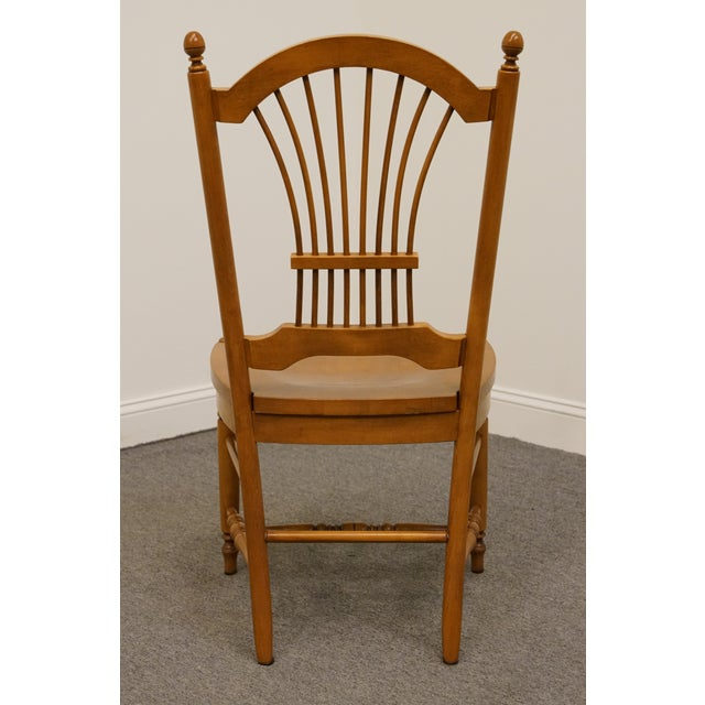 Late 20th Century Vintage Ethan Allen Casual Dining Wheat Back Dining Side Chair For Sale In Kansas City - Image 6 of 10