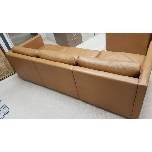 Knoll International 1970s Vintage Knoll Pfister Brown Leather Sofa For Sale - Image 4 of 13