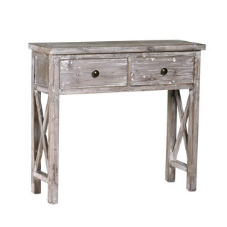 White Washed Pine Console Table