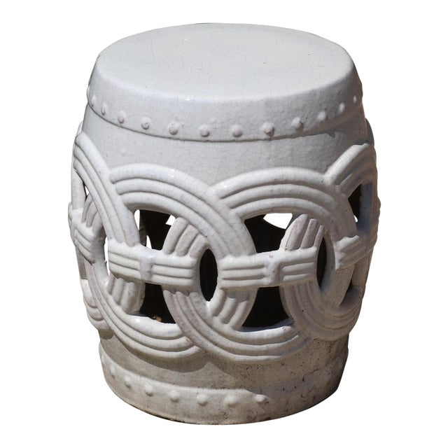 Indian Rings Ceramic Stool For Sale