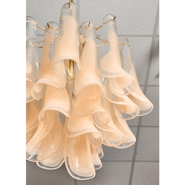 """Peach Peach Murano Glass """"Selle"""" Chandeliers - a Pair For Sale - Image 8 of 10"""