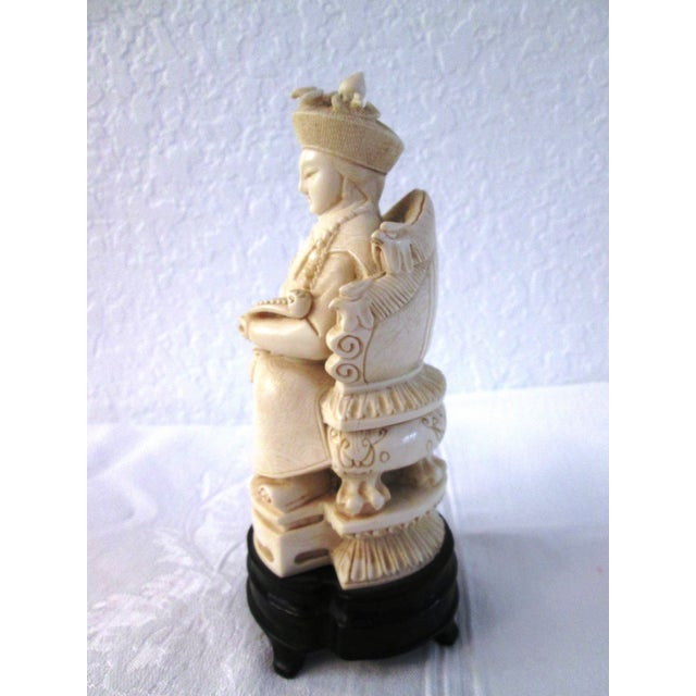 Chinese Mid Century Seated Empress Sculpture - Image 3 of 8