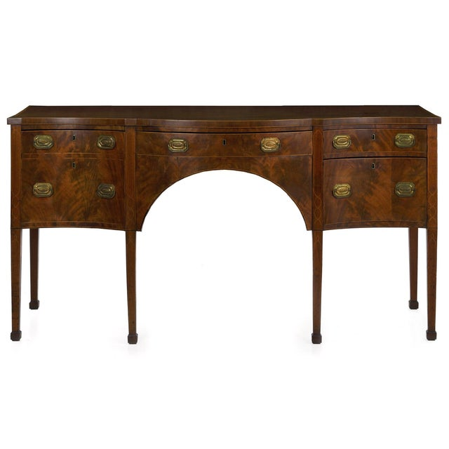 Circa 1780 English George III Period Antique Mahogany Sideboard For Sale - Image 11 of 11