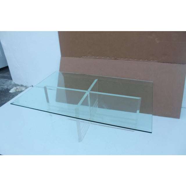 Vintage Lucite Coffee Table - Image 4 of 8
