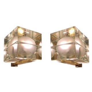 Cubosfera Wall Lights by Alessandro Mendini-Frosted Version For Sale