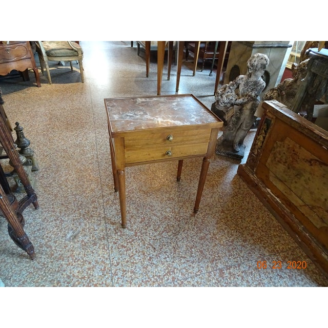 French Marble Side Table For Sale - Image 9 of 13