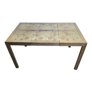 Henredon Chinese Chippendale Burl Dining Table For Sale