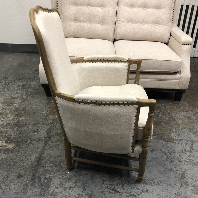 Restoration Hardware 18th C. French Upholstered Bergere Chair For Sale - Image 10 of 13
