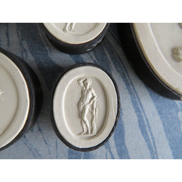 Plaster 19th Century Grand Tour Neoclassical Plaster Intaglios - Set of 7 For Sale - Image 7 of 13