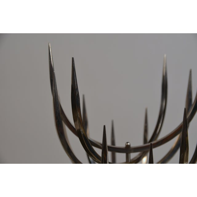 1970s Polished Stainless Steel Candle Tree by Xavier Feal For Sale - Image 5 of 9