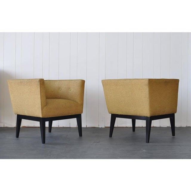 Pair of 1950s cube chairs.