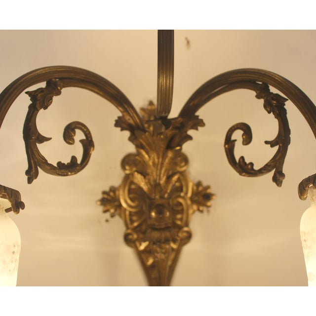 Victorian Brass & Cut Glass Wall Sconces - Pair - Image 6 of 6