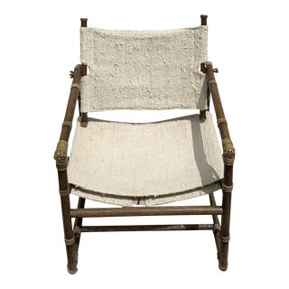 McGuire Officer's Oak Chair For Sale