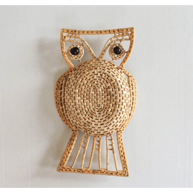 Mid 20th Century Vintage Owl Wall Hanging For Sale - Image 5 of 8