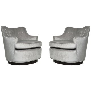 Dunbar Swivel Chairs by Edward Wormley - a Pair For Sale