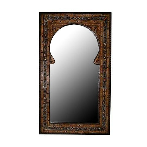 Moroccan Wooden Mirror - Image 1 of 5
