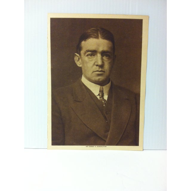 """This is an Antique The Mentor Association Print on Paper that is titled """"Sir Edward H. Shackleton"""". The Print was..."""