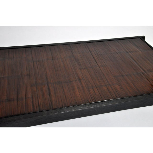 Custom Bamboo Top Coffee Table For Sale - Image 4 of 13