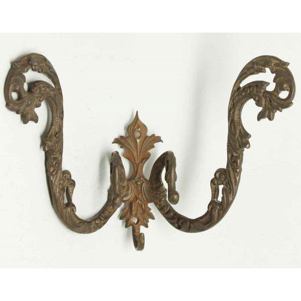 Traditional Double Arm Gilded Bronze Hooks - A Pair For Sale - Image 3 of 6
