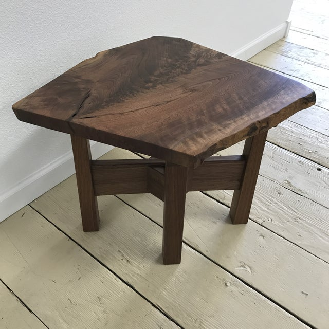 Solid California Walnut Stool For Sale - Image 6 of 11