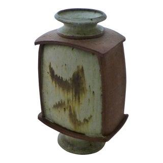 Earthtone Studio Pottery Vase by Vermont Artist Robert Deeble For Sale