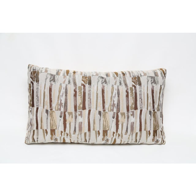 Contemporary Bamboo Big Lumbar Pillow For Sale - Image 3 of 3