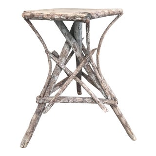 Early 20th Century Adirondack Style Twig Table For Sale